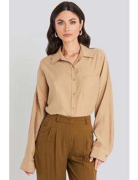 oversize-modal-shirt-beige by beyyoglu