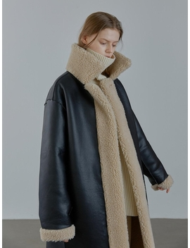 reversible-long-shearling-coat by facade-pattern