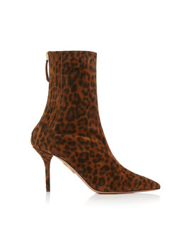 saint-honore-animal-print-leather-ankle-boots by aquazzura