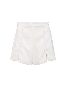 milki-spliced-crepe-de-chine-shorts by alexis