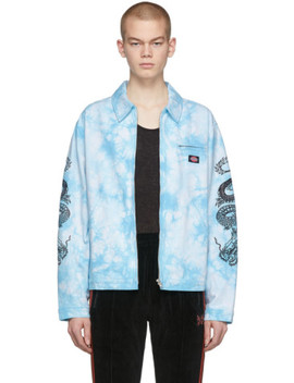 blue-dickies-edition-tie-dye-work-jacket by clot