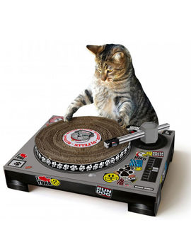 cat-scratching-dj-deck by iwoot