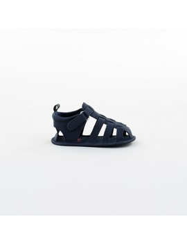 dymples-baby-caged-sandals---navy by dymples