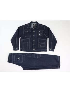 90s-karl-kani-mens-large-30x32-denim-jean-jacket-jeans-suit-anime,-vintage-karl-kani-suit,-90s-denim-jacket,-90s-karl-kani-jeans,-90s-mens by etsy