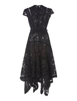 guipure-lace-handkerchief-dress by costarellos