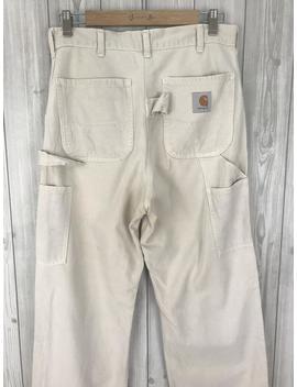rare-vintage-carhartt-made-in-japan-worker-carpenter-denim-pants-waist-31 by etsy