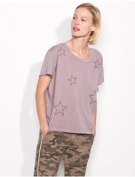 Star Emroidered Vintage Tee by Sundry Clothing