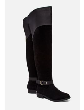 Francesca Mixed Material Boot by Justfab