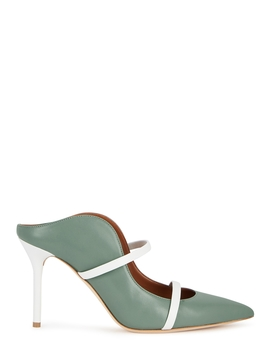 maureen-85-sage-leather-mules by malone-souliers