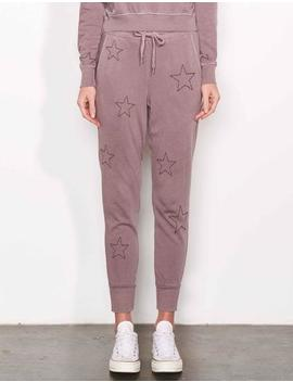 Stars Embroidered Tapered Sweatpant by Sundry Clothing