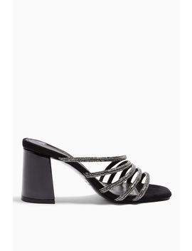 rhonda-black-tube-bling-mules by topshop