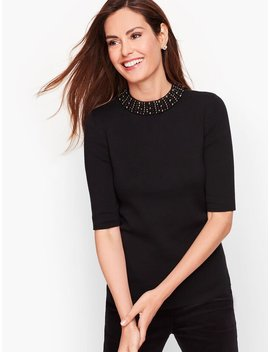embellished-neckline-sweater by talbots