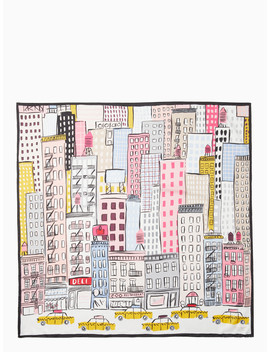 cityscape-silk-scarf by kate-spade
