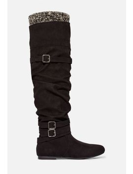 Clemm Sweater Cuff Over The Knee Boot by Justfab