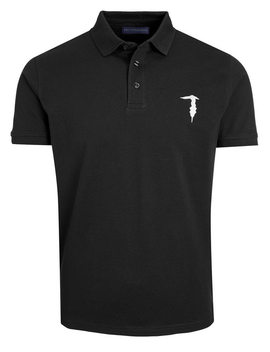 Trussardi Polo Shirt Black With Stretch by Trussardi