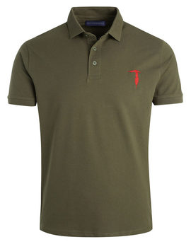 Trussardi Polo Shirt Khaki With Stretch by Trussardi