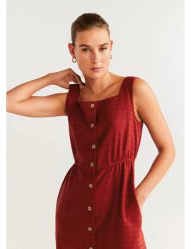 bawełniana-sukienka-zapinana-na-guziki by mango