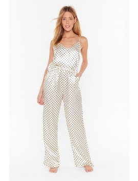 dot-going-out-satin-pyjama-trousers-set by nasty-gal
