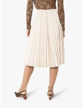 pleated-faux-leather-midi-skirt by low-classic