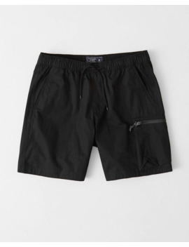 nylon-blend-pull-on-shorts by abercrombie-&-fitch
