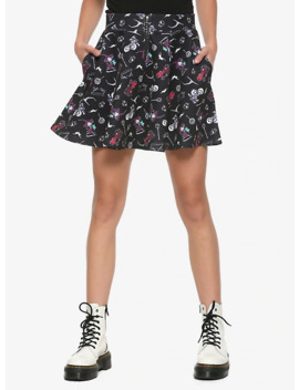 the-nightmare-before-christmas-o-ring-skater-skirt by hot-topic