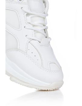 white-and-cream-chunky-platform-trainers by i-saw-it-first