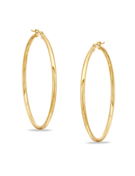 2.0 X 45mm Polished Hoop Earrings In 14 K Gold by Online Exclusive Brilliant Value