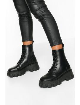 chaussures-de-randonnée-à-plateformes-épaisses-et-lacets by boohoo