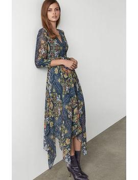 noveau-floral-wrap-dress by bcbgmaxazria