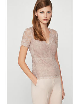 lace-knit-top by bcbgmaxazria