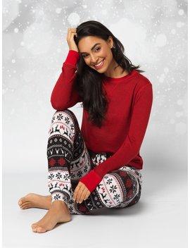 2 Piece Fair Isle Pyjama Set by Suzy Shier
