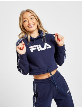 fila-velour-panel-crop-hoodie by jd-sports