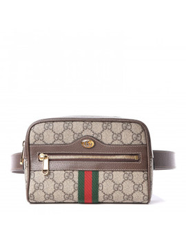 gucci-gg-supreme-small-ophidia-belt-bag-95-38-dark-brown by gucci