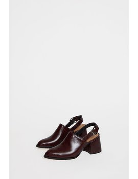 No.6 Avery Slingback In Oxblood Croc by No.6 Store