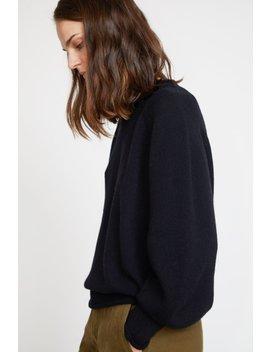 Sayaka Davis Balloon Sleeve Sweater In Black by Sayaka Davis