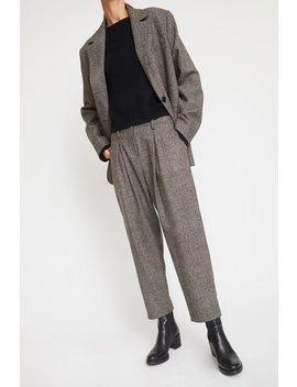 No.6 Hollis Pant In Charcoal Tweed by No.6 Clothing