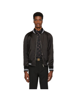 reversible-black-monster-embroidered-varsity-bomber-jacket by givenchy