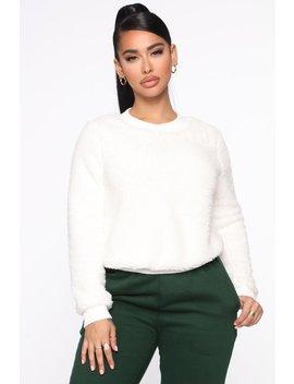 kat-nip-fur-pullover---off-white by fashion-nova