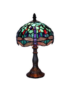 Warehouse Of Tiffany Turquoise Dragonfly Table Lamp by Warehouse Of Tiffany