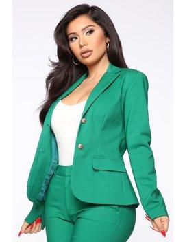 working-like-a-boss-blazer---hunter by fashion-nova