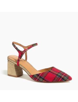 tartan-midblock-heels by jcrew