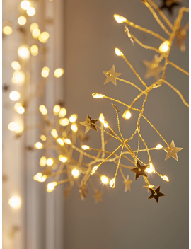 New Golden Stars String Lights by Cox & Cox