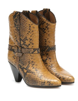 deane-snake-effect-cowboy-boots by isabel-marant