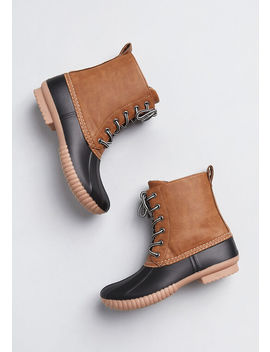 no-stopping-me-duck-boot by modcloth