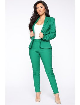 working-like-a-boss-trousers---hunter by fashion-nova
