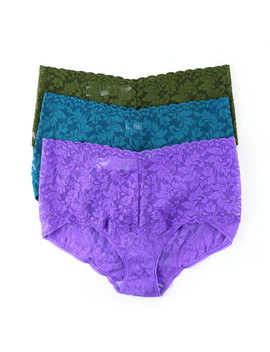 daily-deal:-3-pack-retro-lace-v-kini by hanky-panky