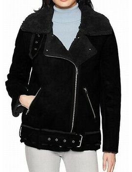joa-womens-jacket-black-size-small-s-motorcycle-faux-fur-shearling-$168-837 by joa