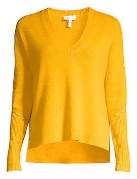 rivet-detailed-wool-blend-sweater by escada-sport
