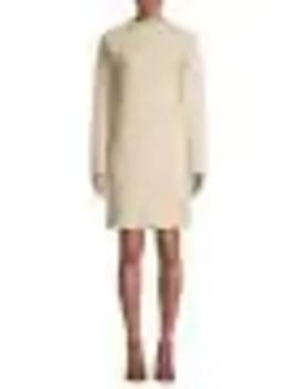 mockneck-wool-&-cashmere-blend-shift-dress by theory