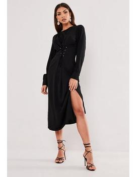 black-corset-front-midi-dress by missguided